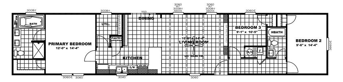 The ANNIVERSARY 16763A Floor Plan