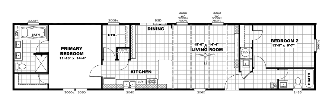 The ANNIVERSARY 16682A Floor Plan