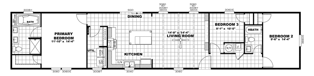 The ANNIVERSARY 16763I Floor Plan