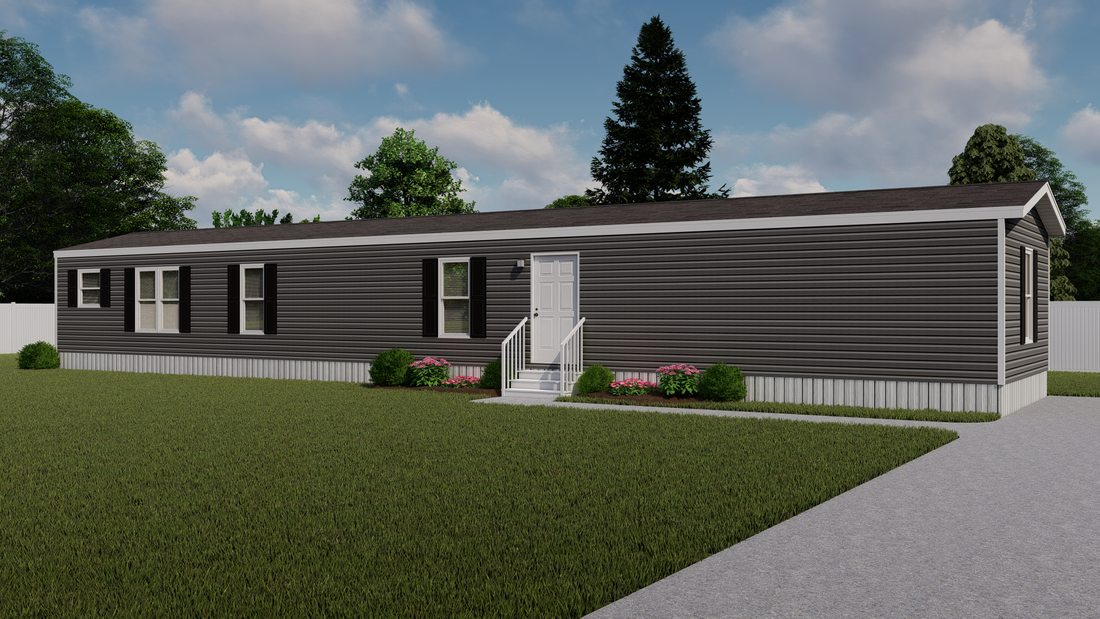 The ANNIVERSARY 16763S Exterior. This Manufactured Mobile Home features 3 bedrooms and 2 baths.