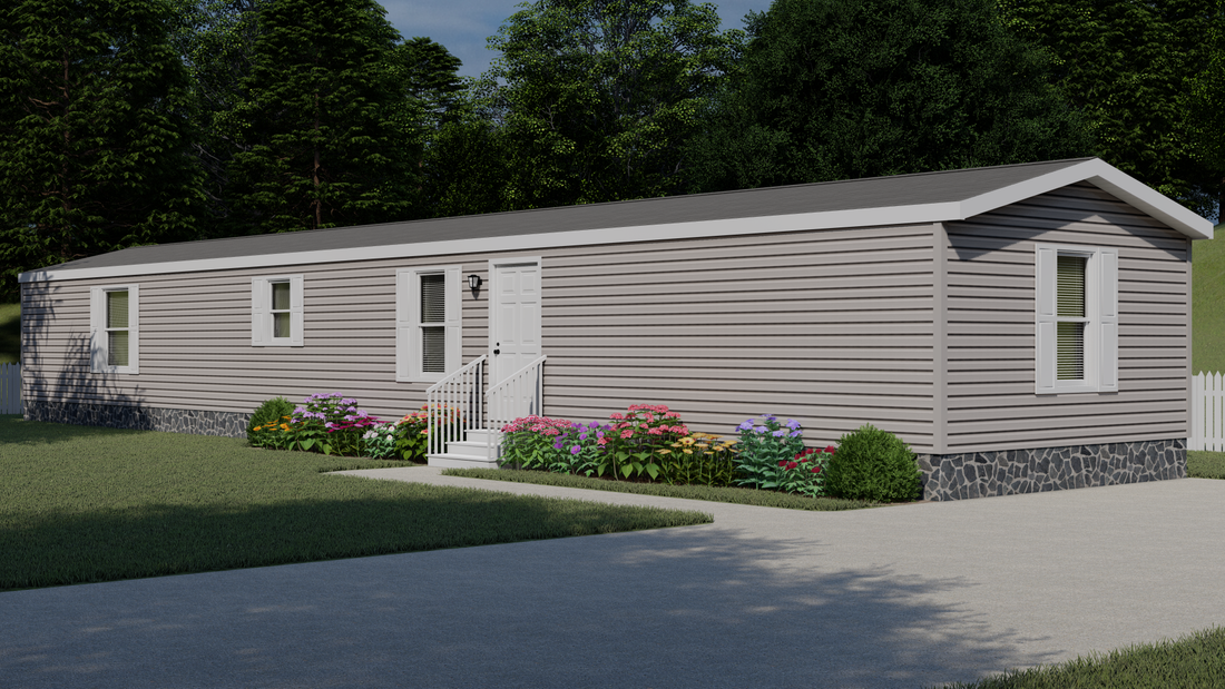 The CHALLENGER 16763B Exterior. This Manufactured Mobile Home features 3 bedrooms and 2 baths.