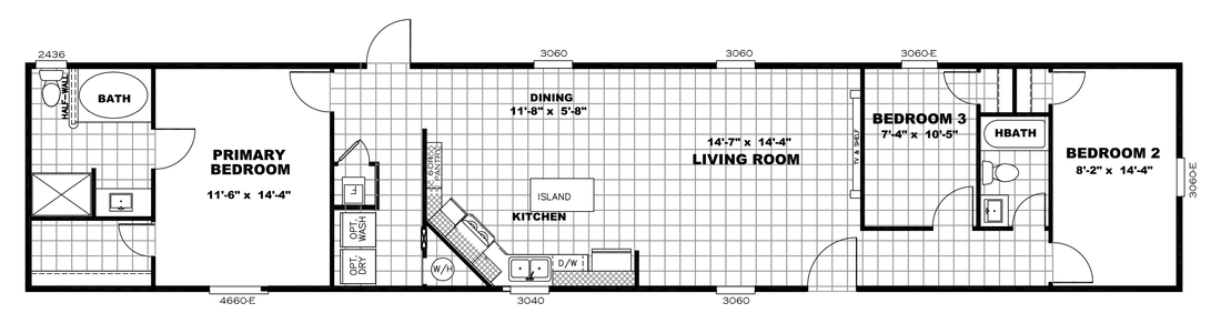 The CHALLENGER 16763B Floor Plan